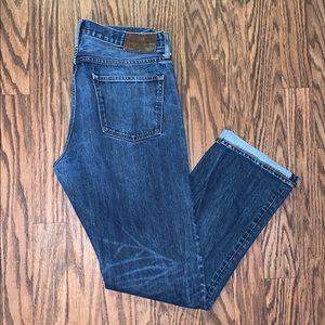 J. Crew Straight Leg Japanese Denim W34 L34 Jeans